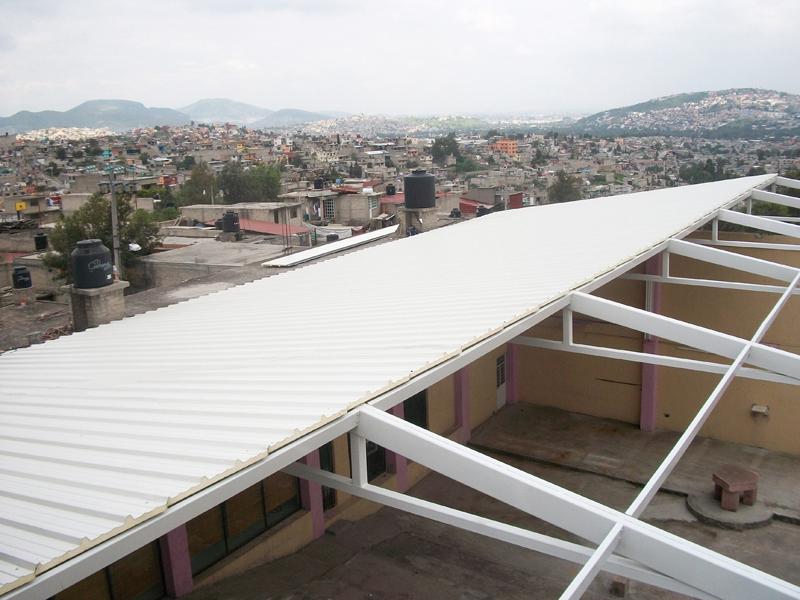 Techos prefabricados en m xico multycasetas for Modelos de techos metalicos para casas